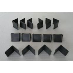 Köşebent - Plastik Siyah ,1...